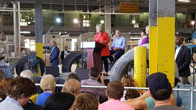 Hillary Clinton Speaks to Employees at JWT